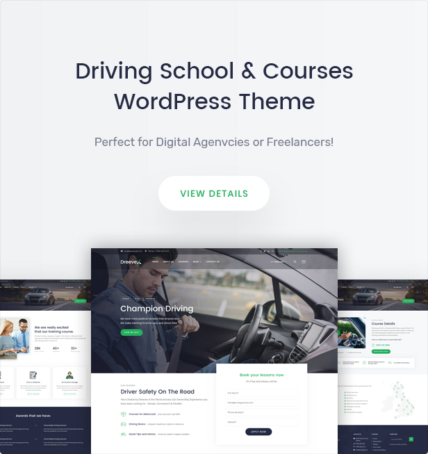 DreeveX – Driving School WordPress Theme - 5